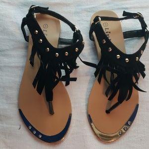 Kids embellished sandals